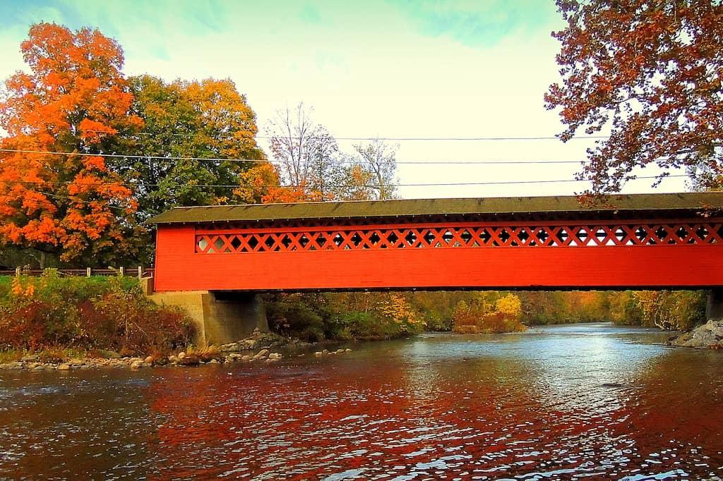 The Henry Bridge in North Bennington by Tara Schatz