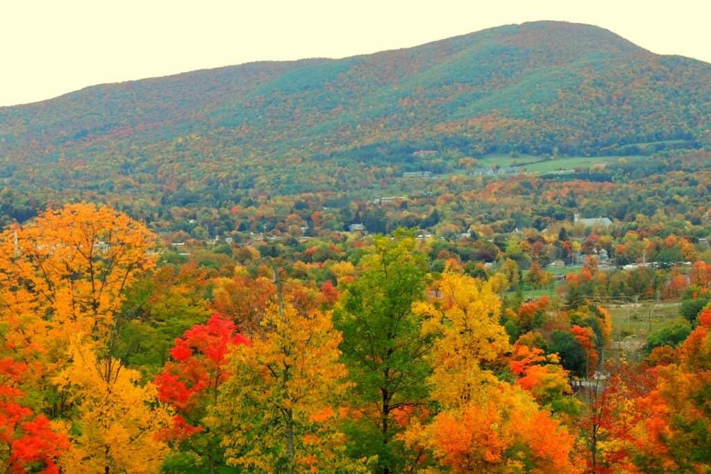 Mt Anthony in Bennington, Vermont in the fall. Copyright: Tara Schatz