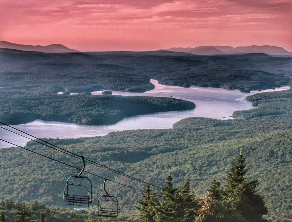 Somerset Reservoir from the lift line on Mt. Snow in West Dover, Vermont