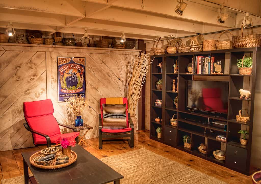 media/tv room in our Pownal vacation rental