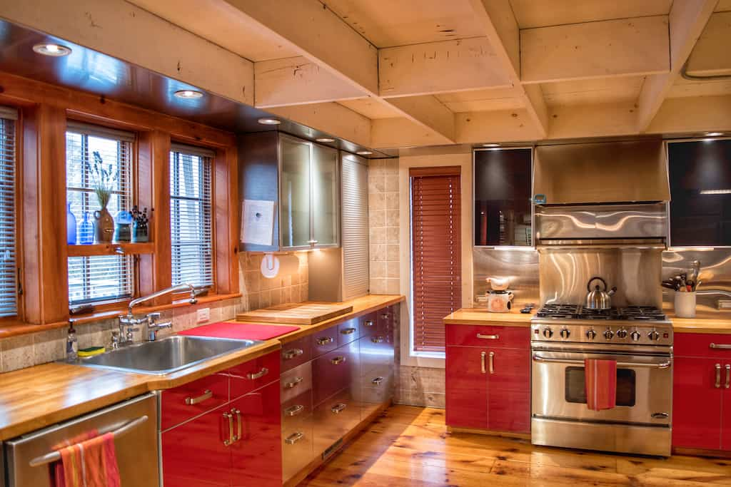 The kitchen in our Pownal vacation rental