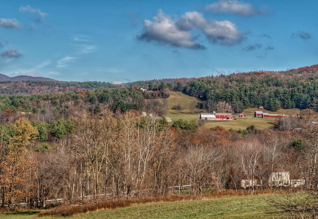 Pownal, VT in the late fall