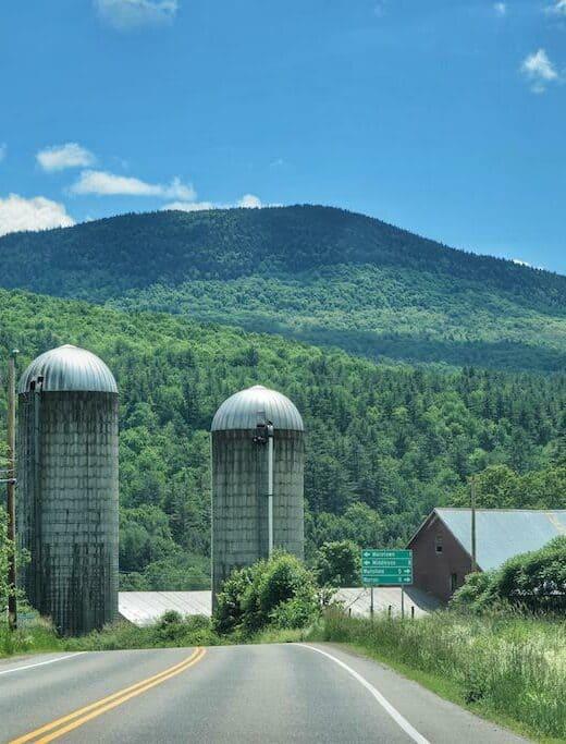 Route 100 in Warren, Vermont