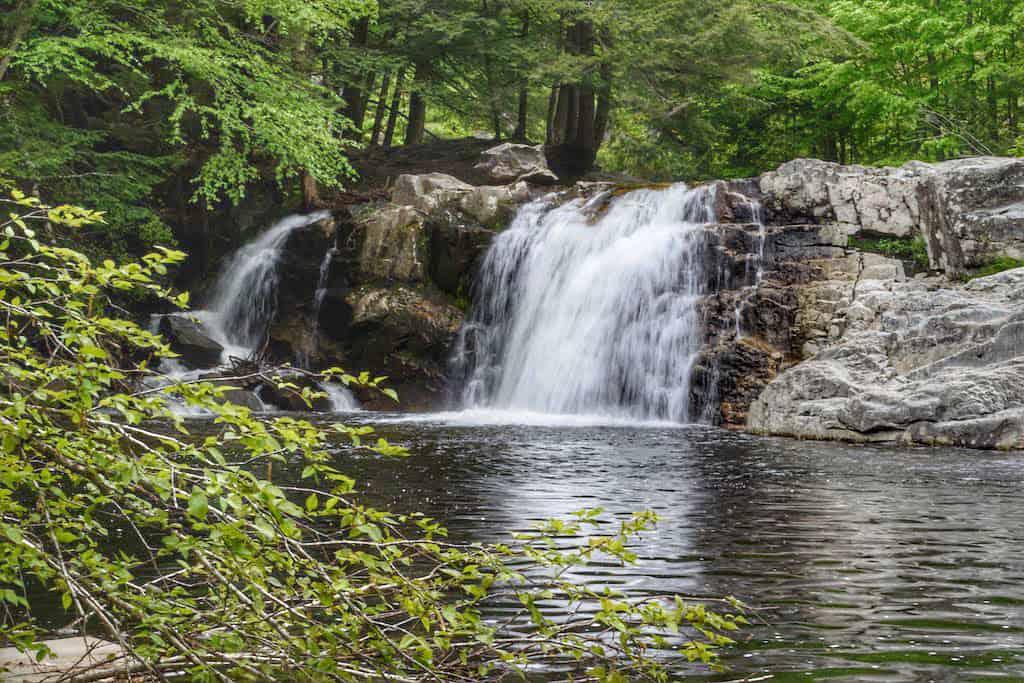 Buttermilk Falls in Ludlow, Vermont