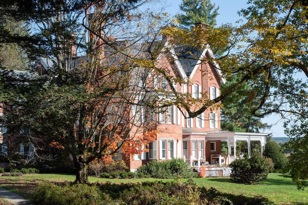 The main house at Marsh Billings Rockefeller National Historic Park in Woodstock VT