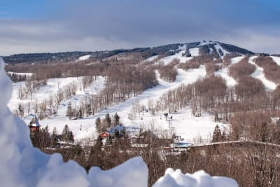 Mount Snow Resort on a winter day.