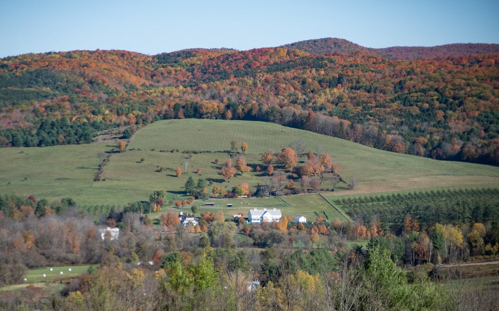 The view from the top of Mt. Peg in Woodstock Vermont in the Fall.