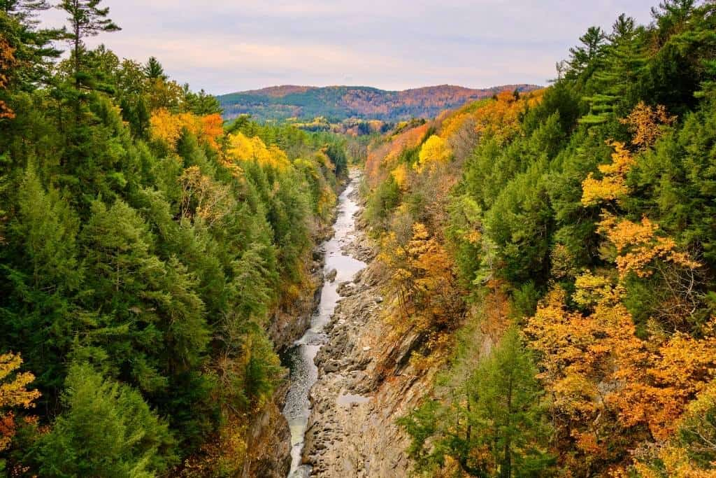 Quechee Gorge as seen from the Route 4 bridge.