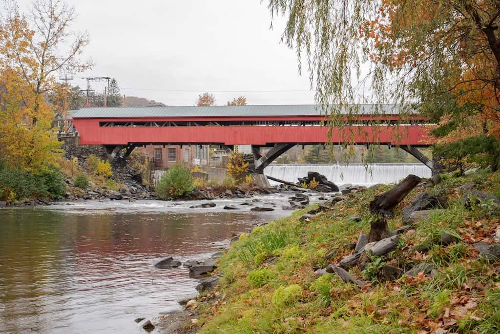 The Taftsville Covered Bridge in Woodstock, Vermont