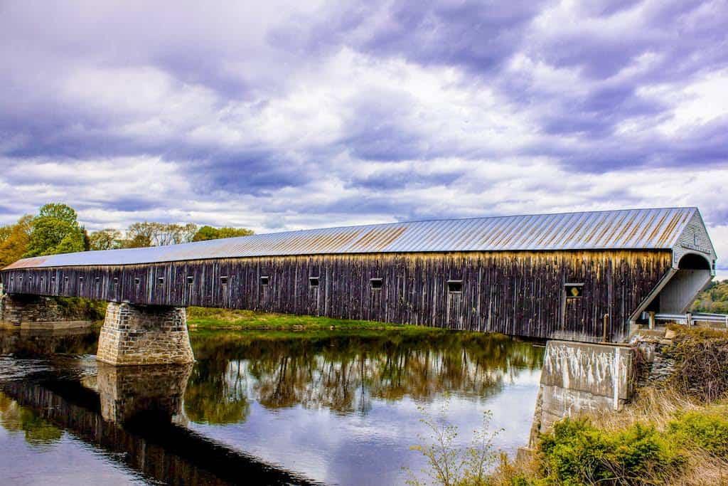 Cornish Windsor Coverd Bridge across the Connecticut River in Vermont.