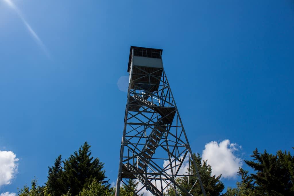 Mt. Olga fire tower in Wilmington, VT
