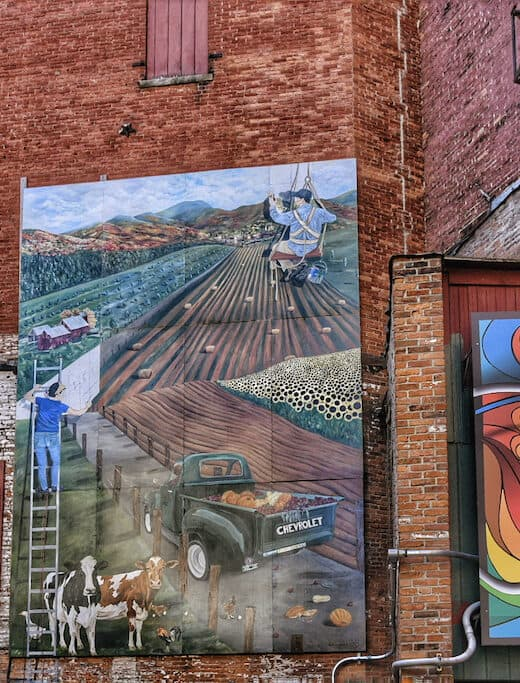 One of the beautiful murals in Rutland, Vermont. This one is called Vermont Farm Scene.
