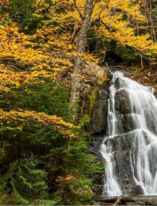 Moss Glen Falls in Granville, Vermont.