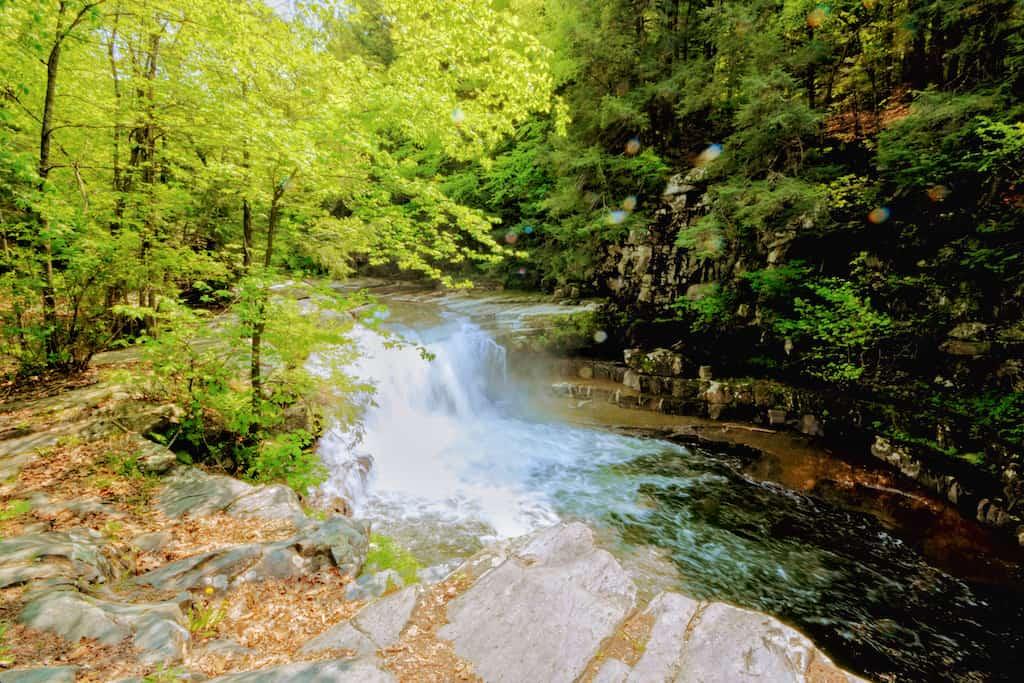 Bristol Falls in Bristol, Vermont.