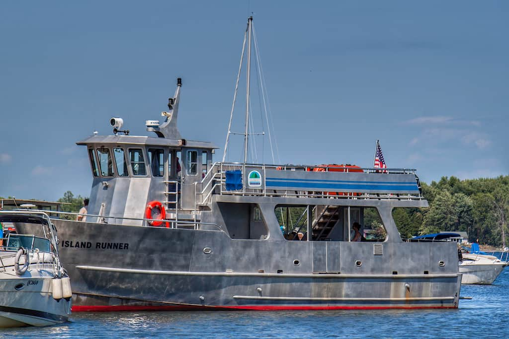 The Burton Island ferry on Lake Champlain in Vermont.