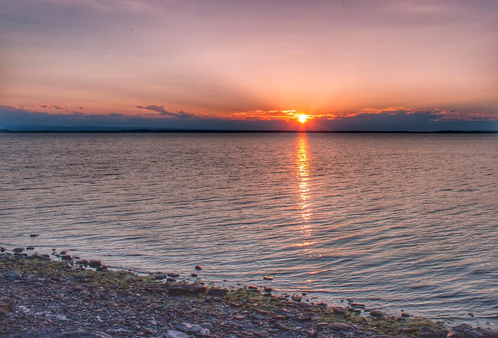Sunset over Lake Champlain from Burton Island.