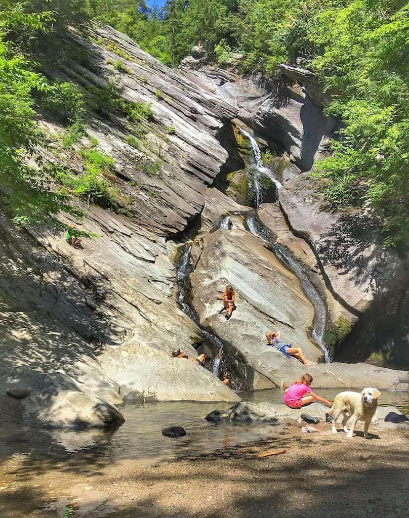 Hamilton Falls in Jamaica, Vermont.