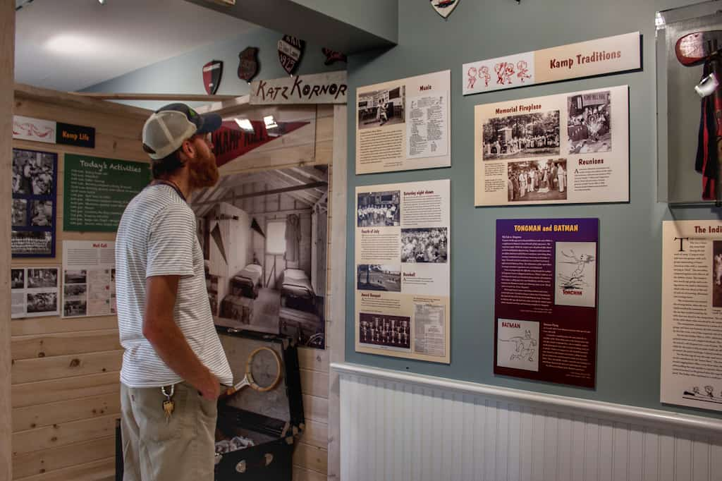 Museum displays at Kamp Kill Kare Museum in Vermont.