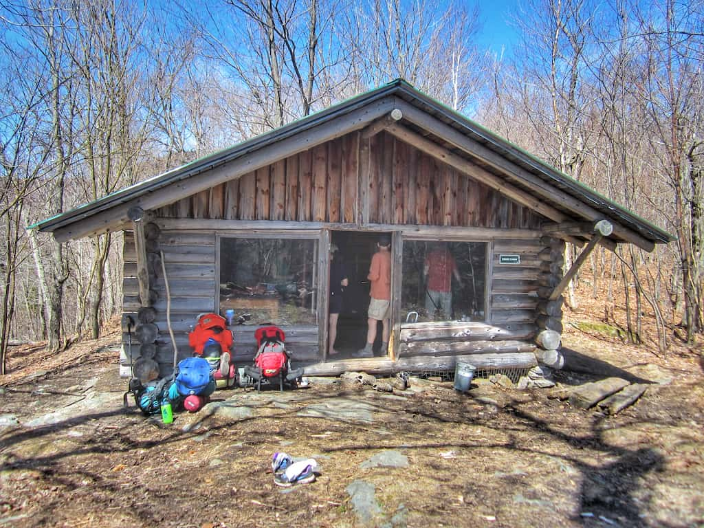 One of the cabins for rent at Merck Forest & Farmland Center in Rupert, Vermont