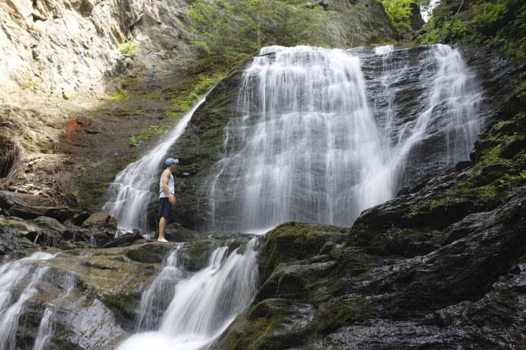 Moss Glen Falls in Stowe, Vermont.