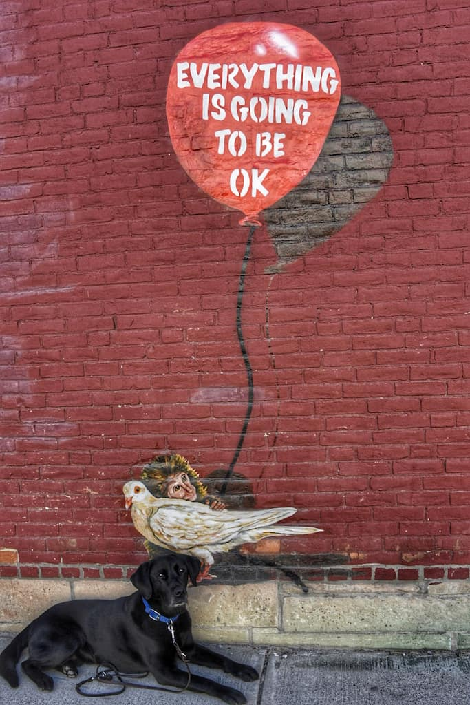 Everything is Going to Be Okay mural in Rutland, Vermont.