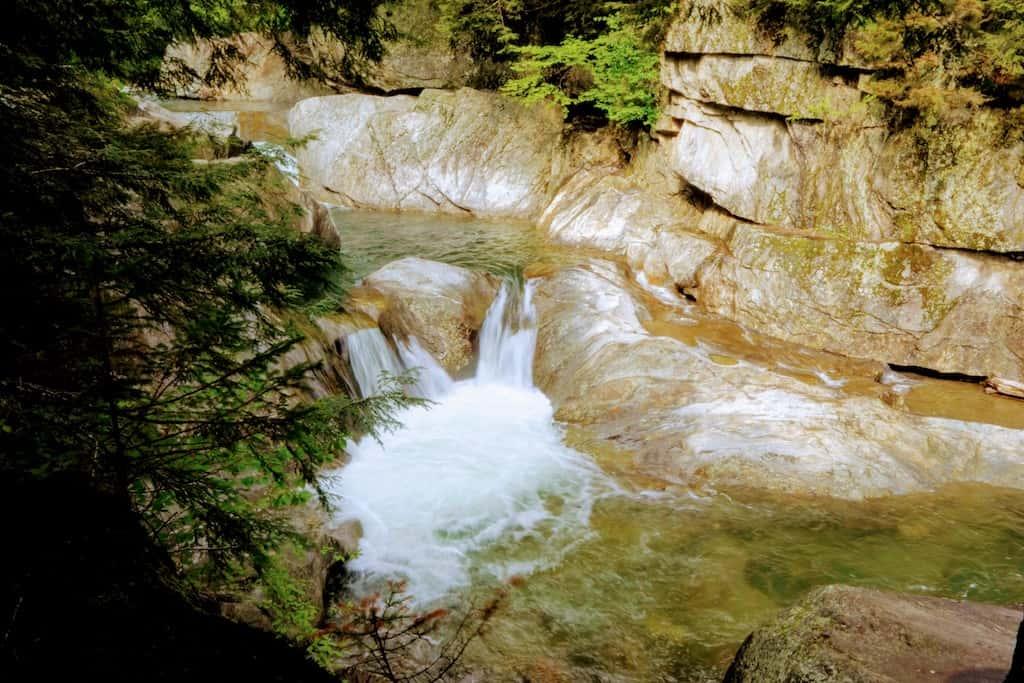 Warren Falls in Vermont