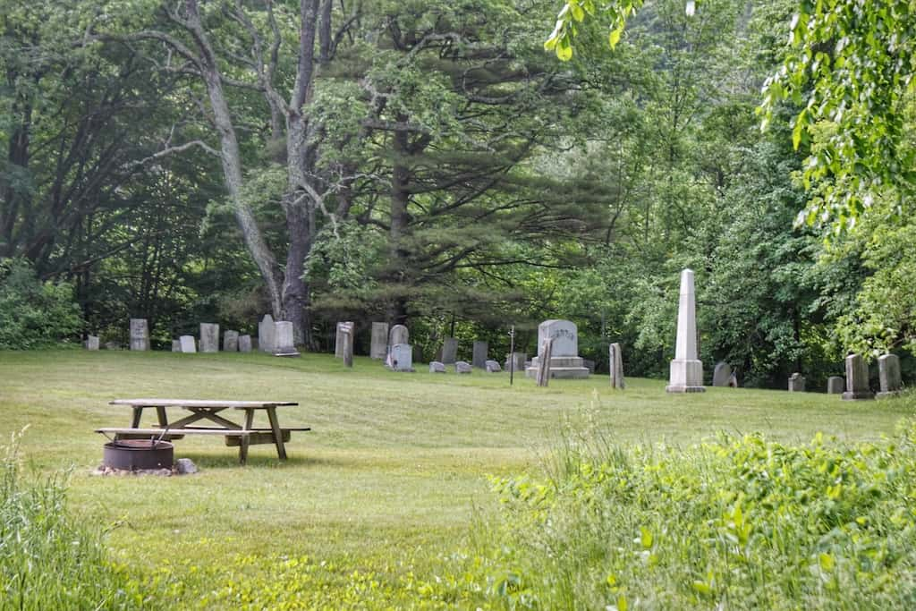The North Dorset cemetery in Emerald Lake State Park, Vermont.