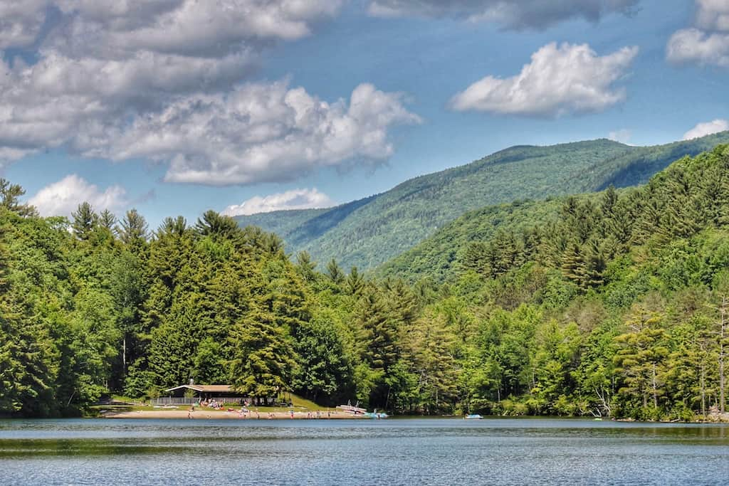 A view of Emerald Lake State Park in Vermont.