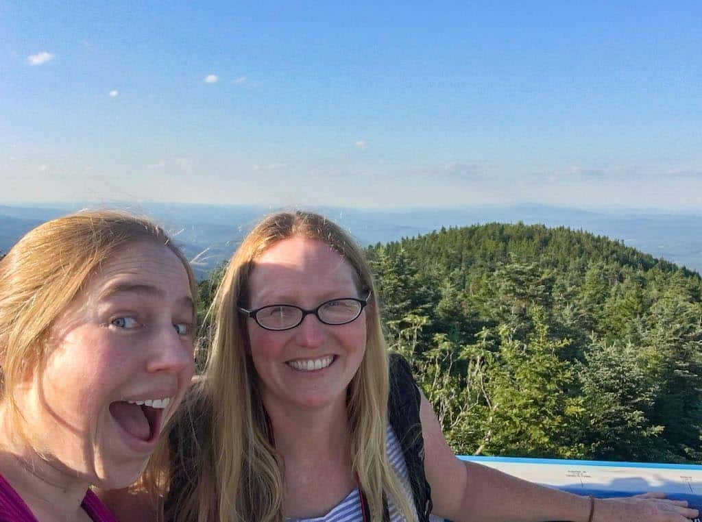 A selfie from the observation tower at the top of Mt. Ascutney in Windsor, Vermont.