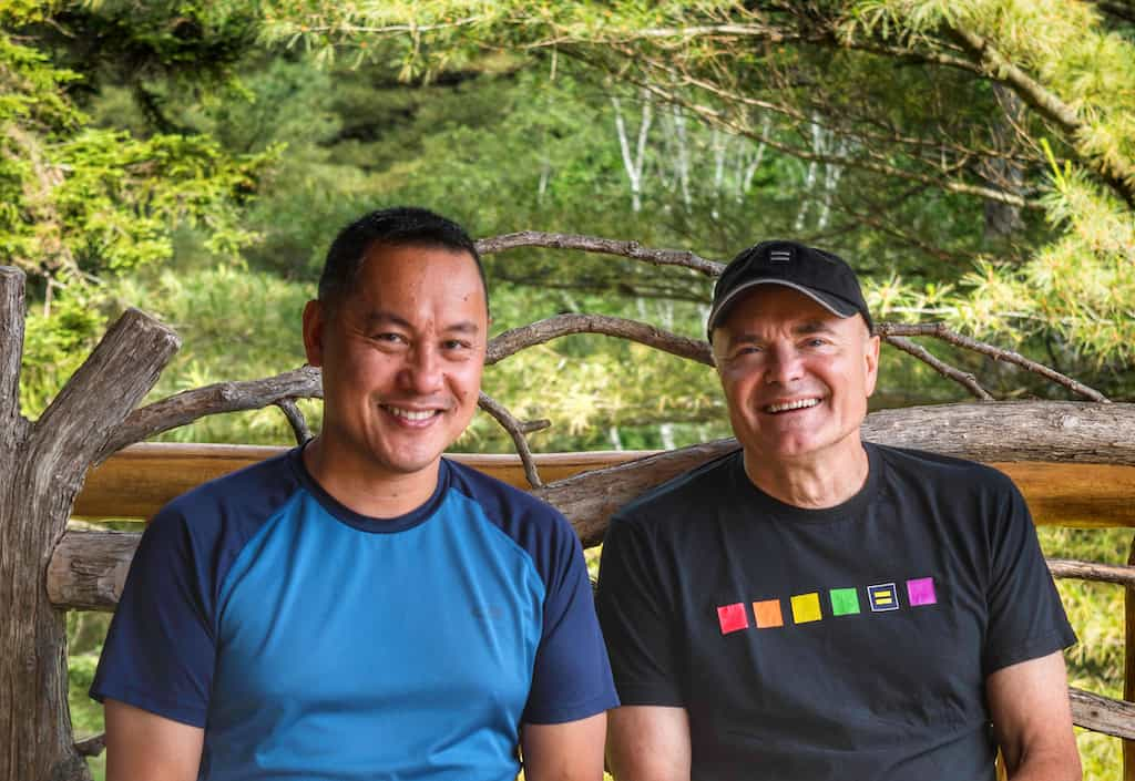 Willie and Greg are the hosts of Moose Meadow Lodge and Treehouse in Waterbury, Vermont.