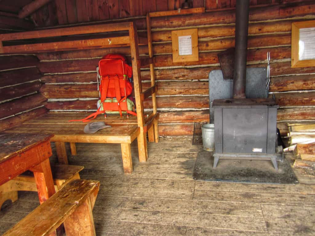 The inside of Ridge Cabin at Merck Forest in Vermont.