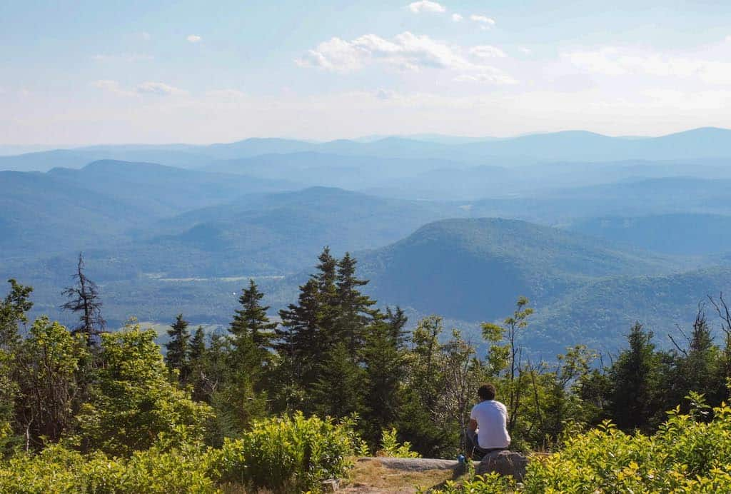 A summer view from the summit of Mt. Ascutney in Vermont.