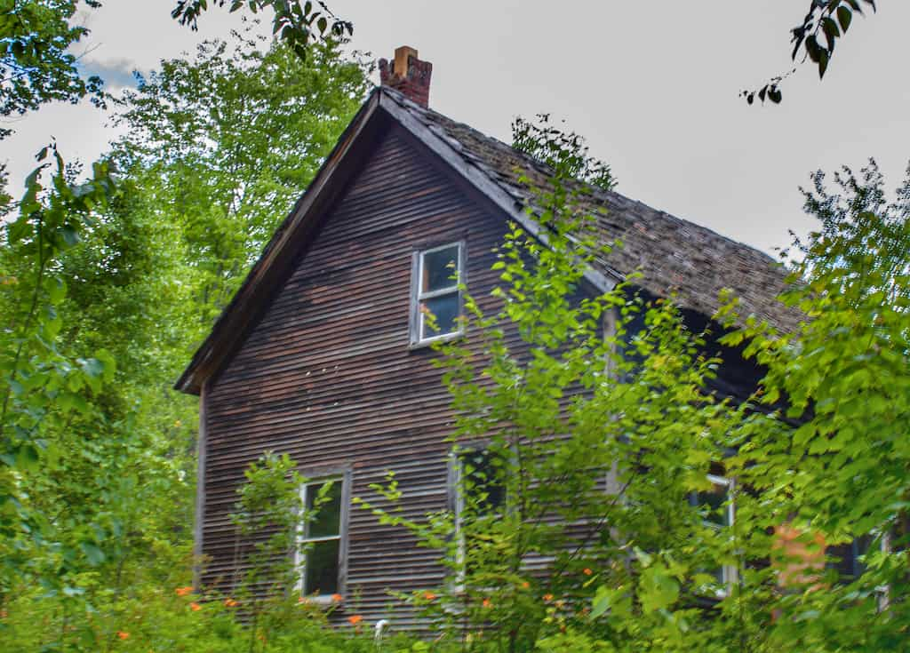 The last remaining house from when the Waterbury Reservoir was created and all the rest of the homes were flooded.