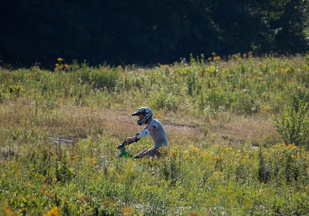 A trail through the meadow at Mount Snow in Vermont.