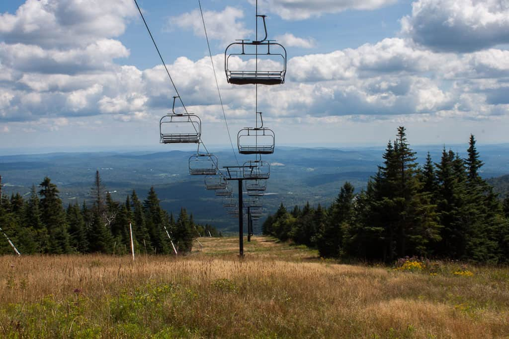 The summer lift at Mount Snow in Vermont.