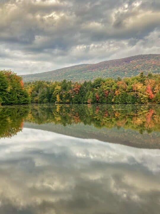 Lake Shaftsbury Vermont during fall foliage