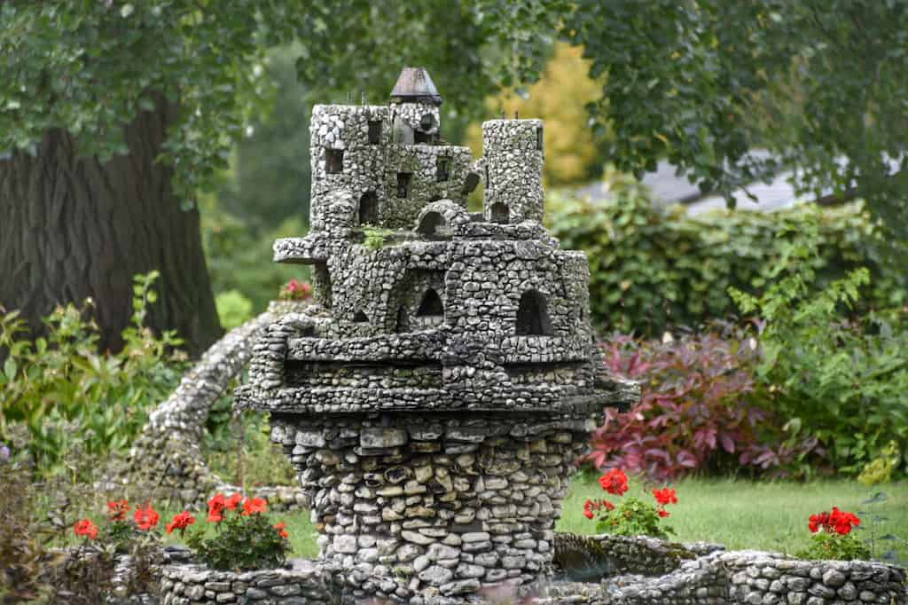 One of the miniature Harry Barber castles on South Hero Island in Vermont.
