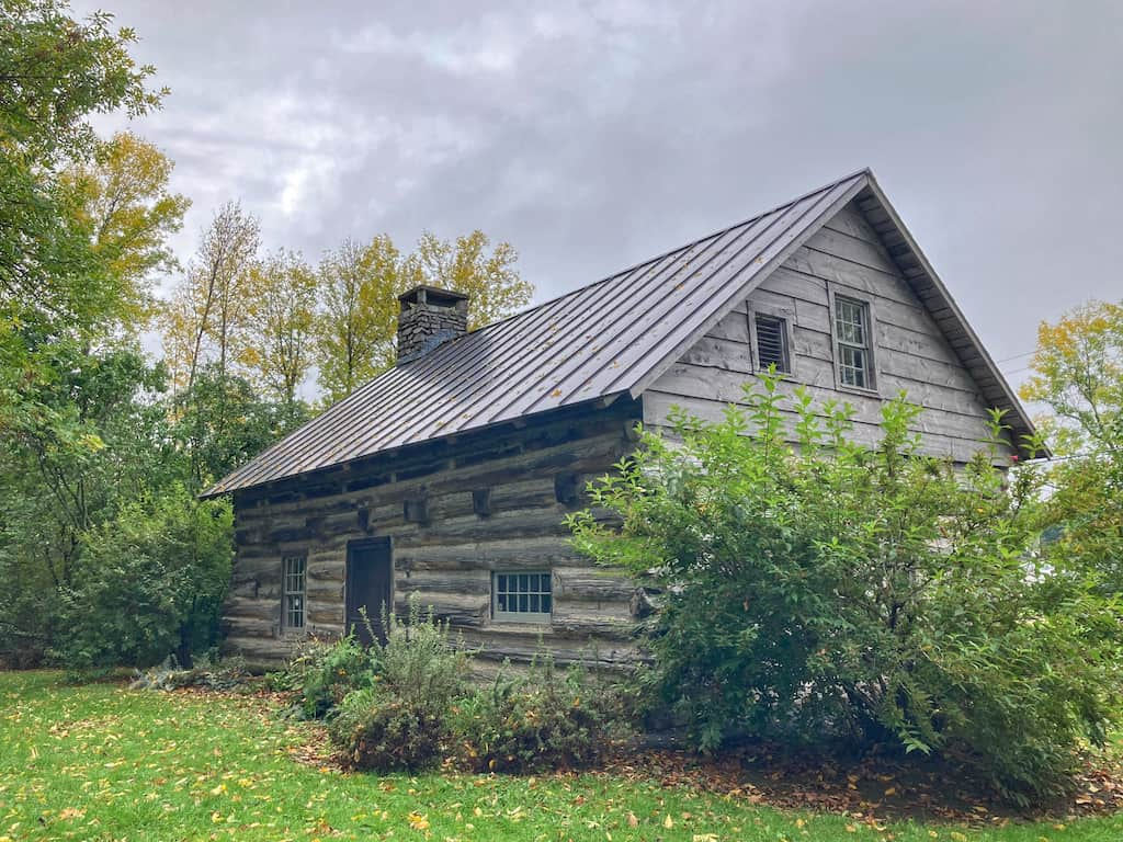 The Hyde Log Cabin in Grand Isle, Vermont - one of the oldest log cabins in the United States.