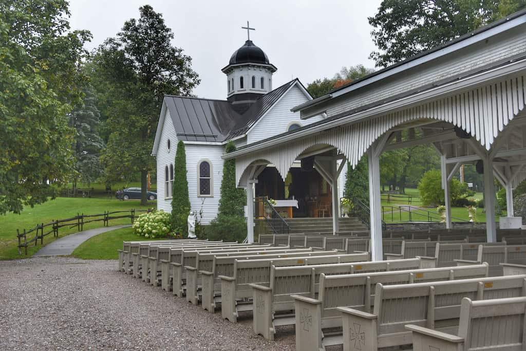 The chapel at St. Anne's Shrine in Isle La Motte, Vermont.