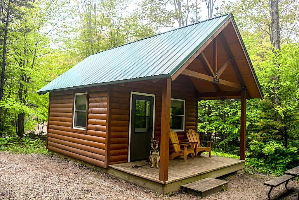 Lady Slipper cabin at Woodford State Park in Vermont.